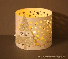 Tisch-Laterne mit vielen Sternen