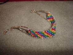 Safety Pin Bracelet Jewelry | Jewelry / DNA Strand - bracelet. Made from safety pins.