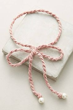 Braided Bow Choker Necklace