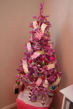 pink christmas tree pink christmas tree last christmas christmas sweets christmas christmas - Candyland Christmas Tree Decorations