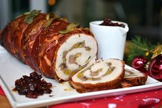 Turkey Roulade with cranberry reduction - Heat & Grill Bbq Grill, Grilling, Barbecue, Turkey Roulade, Christmas Dinner Menu, Whole Turkey, Thing 1, Xmas Food