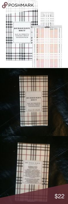 NWT Burberry Brit Toilette 1 oz New, Burberry Brit Toilette 1 oz. I love this scent!  I put together my favorites packages for my clients, and often have extra products that I sell on here! I price my items lower to accommodate for shipping. I'm open to reasonable offers, especially if you're bundling with other items - you'll pay the same in shipping if you buy one or multiple items from my closet! All the funds from my Poshing go towards the non-profit organization I'm founding 💜 Burberry…