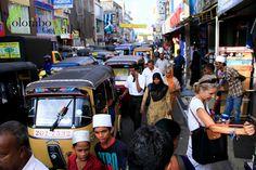 busy streets of Pettah - Colombo, Sri Lanka
