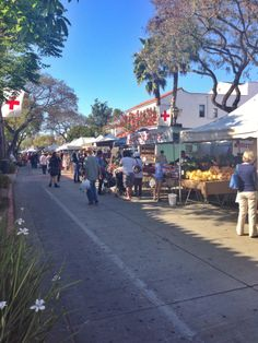 A great thing to do in Santa Barbara is to visit the Farmers Market...then take a helicopter tour along the coast. The gorgeous colors, the delicious samples, the live music around every corner - a fun way to mix with neighbors and support local farmers.