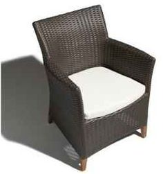 I Love Wicker!! All weather wicker dining chairs are so elegant and distinctive. They are also very comfortable and most pieces are small. They...