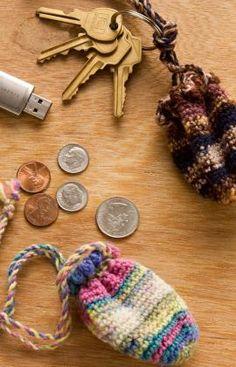 Key Ring Pouch Crochet Pattern