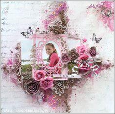 Honourable Mention ~ Beautiful Scrapbook Layout. Learn more at sanderjndebriun.blogspot.com.au ~ Wendy Schultz ~ Kids Layouts.