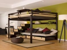 Bunk beds for adults. Bedroom ideas. Nooks.