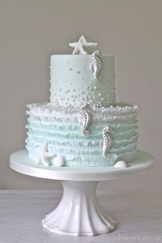 19 Mouth-watering Summer Beach Wedding Cakes To Get Inspired #beachwedding #weddings #weddingcake