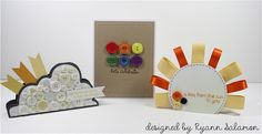 Super cute and easy button cards by Ryann Salamon