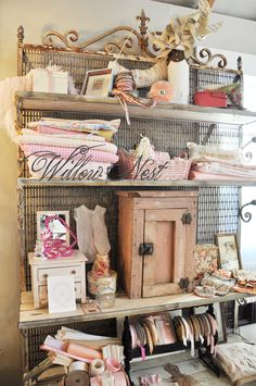 so many lovely things in this display from Willow Nest