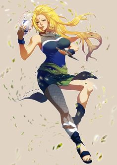 "Tsunade (綱手, Tsunade) is the Fifth Hokage (五代目火影, Godaime Hokage; Literally meaning ""Fifth Fire Shadow"") of Konohagakure. She hails from the village's Senju clan, and is also a descendant of the Uzumaki clan through her grandmother Mito. Along with former team-mates Jiraiya and Orochimaru, she is recognised as one of the ""Three Legendary Shinobi"" (Sannin). Tsunade is considered to be the most powerful kunoichi in the world, and is celebrated as the greatest medical-nin of all time."