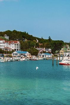 MACKINAC ISLAND, MICHIGAN  Located in the straits between Lake Michigan and Lake Huron, this tiny island doesn't allow cars, but you'll see plenty of tourists and residents traveling the 18-mile island by bike or horseback. If you need us, we'll be at the Pink Pony.