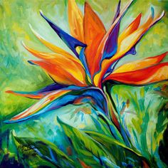 FEB 2, 2016 ~ Wow a new month already?  This BIRD of PARADISE painting flew off my easel today.  Come See it on Auction HERE http://www.ebay.com/itm/191797442040?ssPageName=STRK:MESELX:IT&_trksid=p3984.m1555.l2649