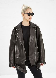 Acne Studios More Moto Jacket in Black #totokaelo #acnestudios #motojacket