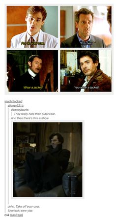 """""""he knows the coat is awesome."""" - I'm sitting on the bus, smiling at this like a slightly over-conspicuous dork, lol."""