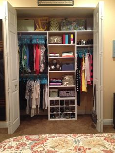 It's among the few closet organization ideas which are actually free. A walk-in closet doesn't mean organization. Some customized closet organizers have jewelry organizers constructed i… Kid Closet, Master Closet, Closet Bedroom, Closet Space, Closet Ideas, Garage Closet, Hallway Closet, Laundry Closet, Bathroom Closet
