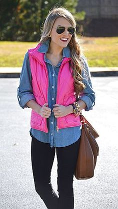 All American Quilted Vest, Pink :: NEW ARRIVALS :: The Blue Door Boutique