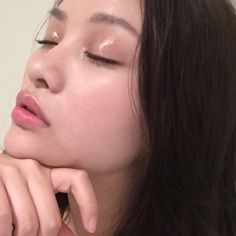 "sacheu: "" I tried a look today with glossier balmdotcom + make face gloss on my…"