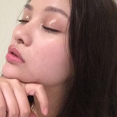 "sacheu: "" I tried a look today with glossier balmdotcom + make face gloss on my…"