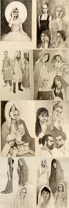 Pages from the sketchbook by mannequin-atelier.deviantart.com on @deviantART