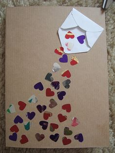 Valentine's Day - could be a good idea for a bulletin board  (with the kids names on the hearts)