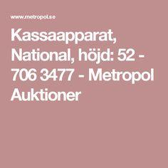 Kassaapparat, National, höjd: 52 - 7063477 - Metropol Auktioner