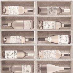 Fresco Wallpaper Wine Bottles