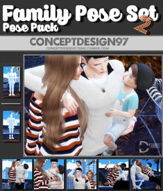 Simsworkshop: Family Pose Set 2 • Sims 4 Downloads