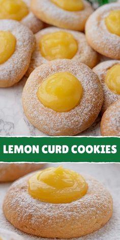 EASY LEMON COOKIES RECIPE Lemon Curd Cookies Recipe, Lemon Cookies Easy, Favorite Cookie Recipe, Favorite Recipes, Lemon Curd Filling, Tart Taste, Sweet Recipes, Easy Recipes, Gluten Free Desserts