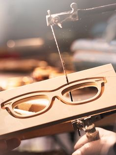 Square frames are handcrafted behind the scenes of The Trench Collection creation from Burberry Eyewear