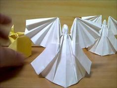 Origami Christmas, Christmas Angels, Youtube, Ideas, Paper Envelopes, Art, Thoughts, Youtubers, Youtube Movies