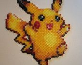 Pokemon - Pikachu -  Fridge Magnet - Hama Perler beads <3