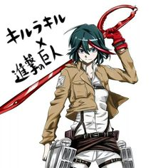 Kill la kill and attack on titan crossover #anime #manga