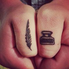 Ink and quill tattoo