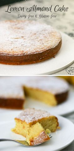 Lemon Almond cake is the solution to morning tea for your gluten-free, dairy-free, refined sugar-free friend. It's seriously delicious, moist and so lemony. Dairy Free Baking, Dairy Free Recipes, Gluten Free, Almond Cakes, Almond Recipes, Sweet Desserts, Sugar Free, The Best, Food And Drink