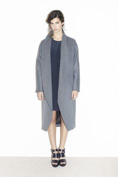 Escape Grey Wool Coat Only available on Datura.com