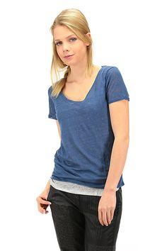 Majestic filatures - T-Shirts - Abbigliamento - T-Shirt in maglina di lino con canotta bi color.La nostra modella indossa la taglia /EU S. - 580 - € 140.00