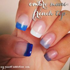 Ombre French tip mani -Momo