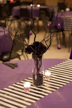 Nightmare Before Christmas table setting