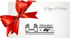 Easy Hassle-Free Shopping = Framing & Art Centre gift cards!  #shopearly #customframing #holidaygifts #giftideas #holidays