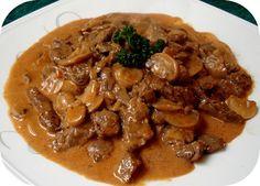 Le Bœuf Stroganov ou Bœuf Stroganoff est un plat originaire de Russie, à base de viande de bœuf INGRÉDIENTS 400g boeuf, haut de surlonge, coupé en lanières de 1 cm par 5 cm 3 c.à soupe farine blanche (tout usage) 24 g 2 c.à soupe huile de canola 30 mL 1 oignons, hachés finement 200 …