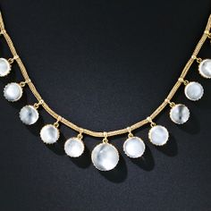 Antique Moonstone Necklace - 90-1-5957 - Lang Antiques