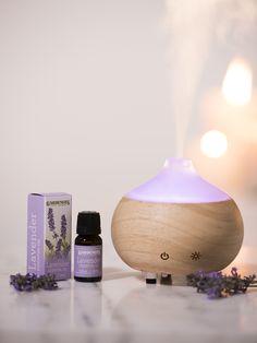 Ultrasonic Aroma Oil Diffuser & Lavender Oil Set