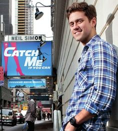 Aaron Tveit in Catch Me If You Can