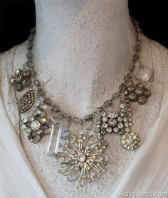 Wonderful idea for those mismatched earrings or random brooches that you can always seem to find at antique stores