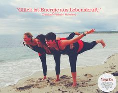 """Glück ist Energie aus Lebenskraft."" (Christoph Wilhelm Hufeland)  #YogaOn #Krieger #Asanas #Strand #Formentera #Glück #Energie #Lebenskraft #Yoga"