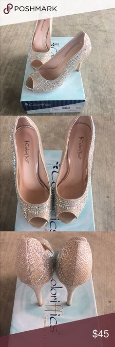 REPOSH Coloriffics Jeweled Heels Reposhing these beauties. Never worn by me. Last posher wore these for her wedding. In great condition. Beautiful to wear for a special occasion. Comes with original box. Coloriffics Shoes Heels