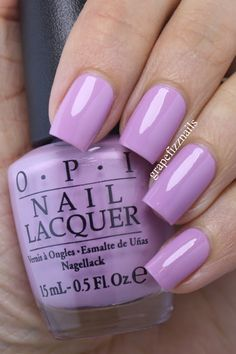 Grape Fizz Nails: OPI Venice Collection for Fall/Winter 2015 Swatches and Revie Nails Opi, Get Nails, Love Nails, Gorgeous Nails, Pretty Nails, Nail Lacquer, Gel Nagel Design, Nagel Gel, Purple Nails