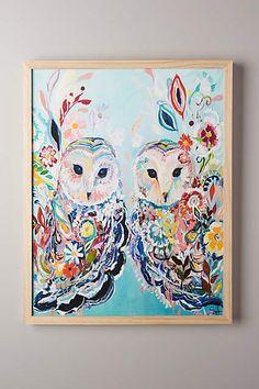 Mooreland Wall Art, Owls - anthropologie.com #anthrofave